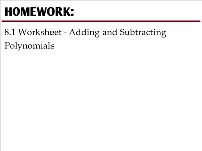 2356541 Math Standards Adding And Subtracting Polynomials Worksheet on