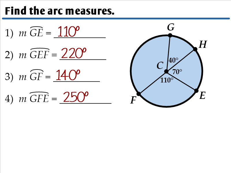 10.2 - Arcs and Chords - Ms. Zeilstra's Math Classes