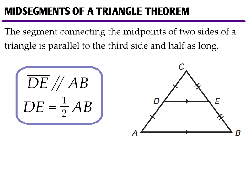6 4 Midsegments Of Triangles Ms Zeilstra 39 S Math Classes