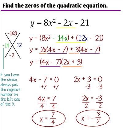 4.2 - X-Factoring - Ms. Zeilstra's Math Classes
