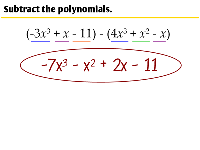 5.4 - Adding, Subtracting, and Multiplying Polynomials ...