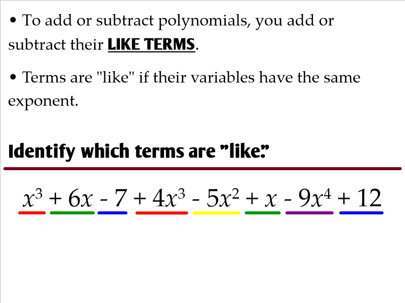 7396380_orig Math Standards Adding And Subtracting Polynomials Worksheet on
